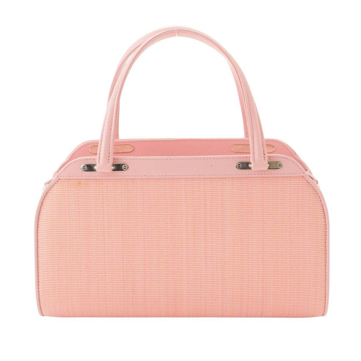 コンテス フラップオーバーバッグ ホースヘアー ハンドバッグ C007578 ピンク