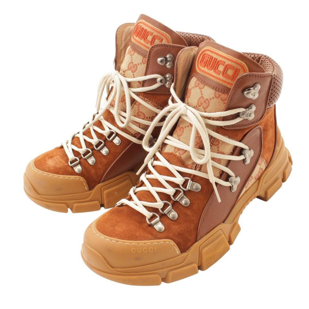 グッチ フラッシュトレック GGキャンバス ブーツ 521679 ブラウン