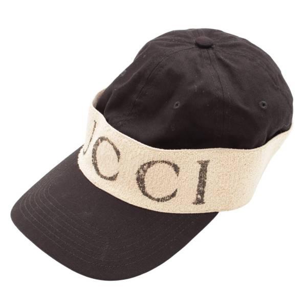 グッチ ヘアバンド付き ベースボール キャップ 帽子