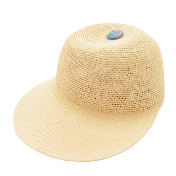 エルメス ストロー キャップ 麦わら 帽子 ナチュラル