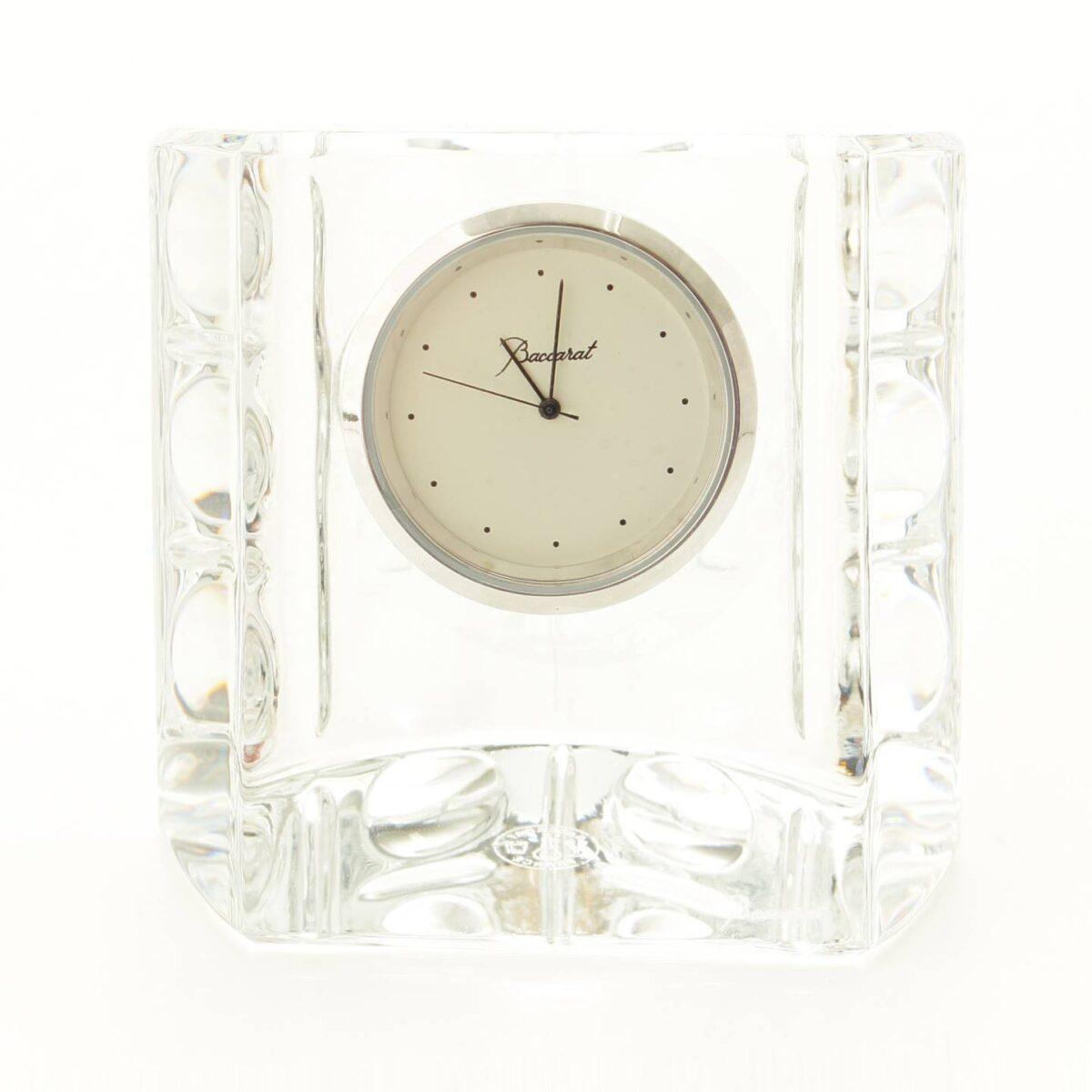 バカラ エキノックスクロック クリスタル 置時計