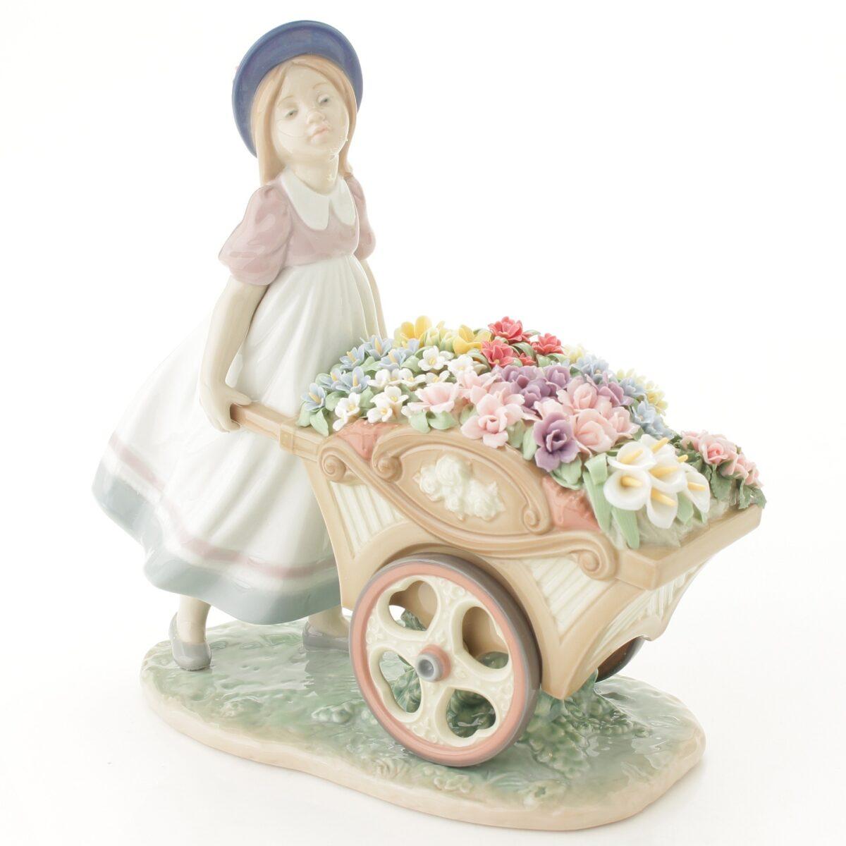 リヤドロ LLADRO 可愛いお花屋さん 陶器人形 置物 少女 女の子 6521