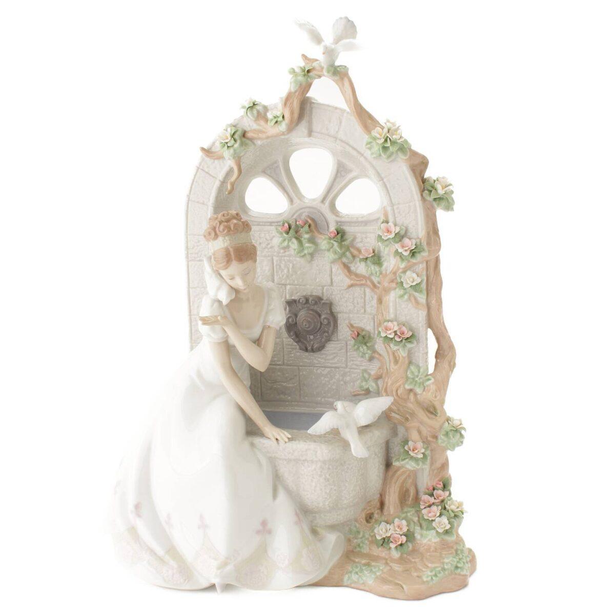 リヤドロ SPRING OF LOVE 愛のさえずり 2000体限定 陶器 置物 フィギュリン 1876