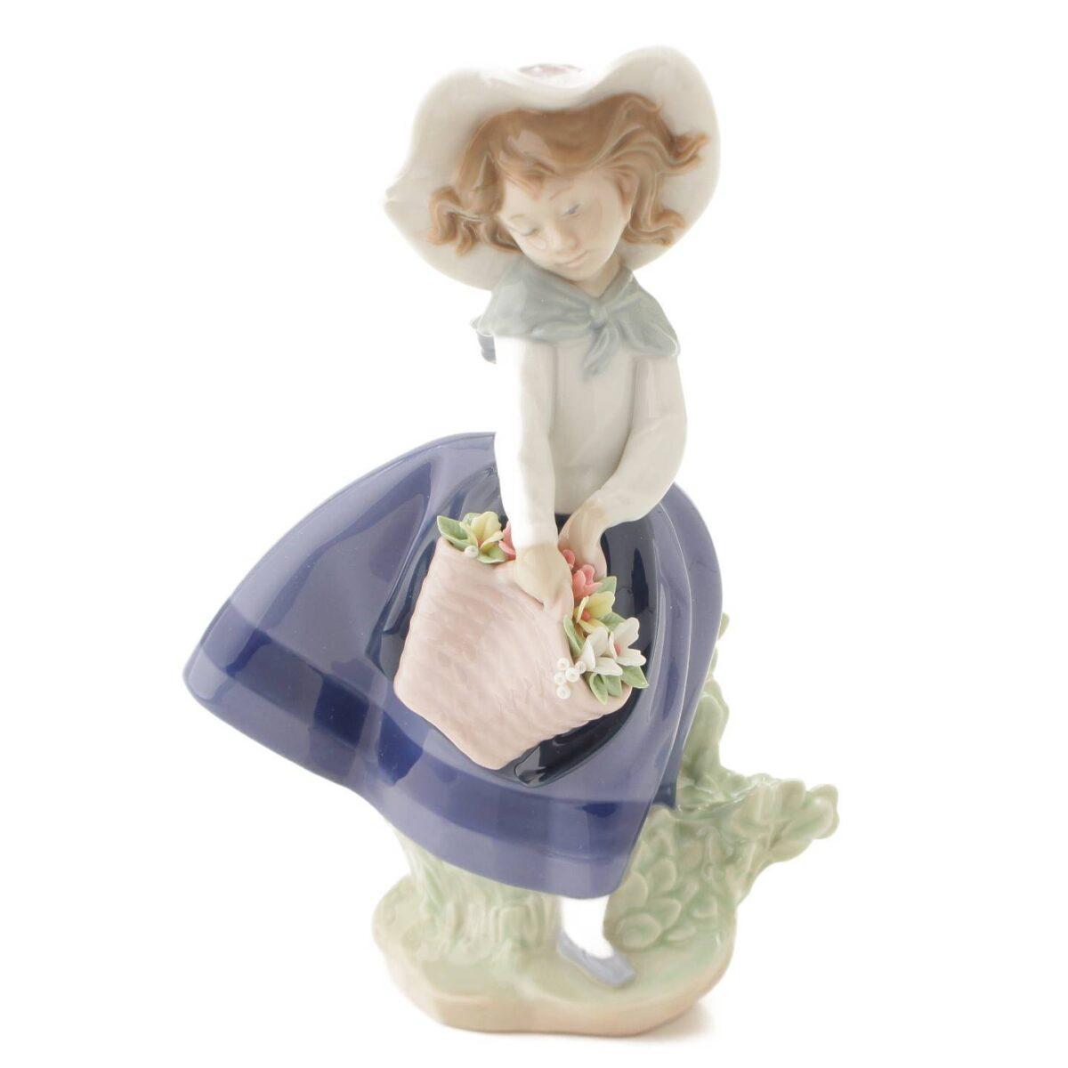 リヤドロ 綺麗な花ばかり 陶器人形 置物 インテリア 5222