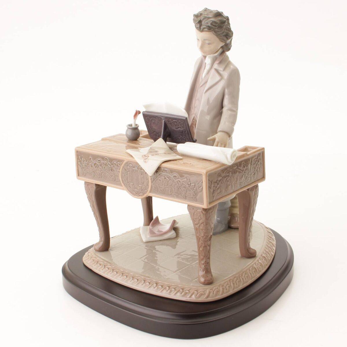 リヤドロ ヤングベートーベン No318 台座付き 陶器人形 置物 インテリア