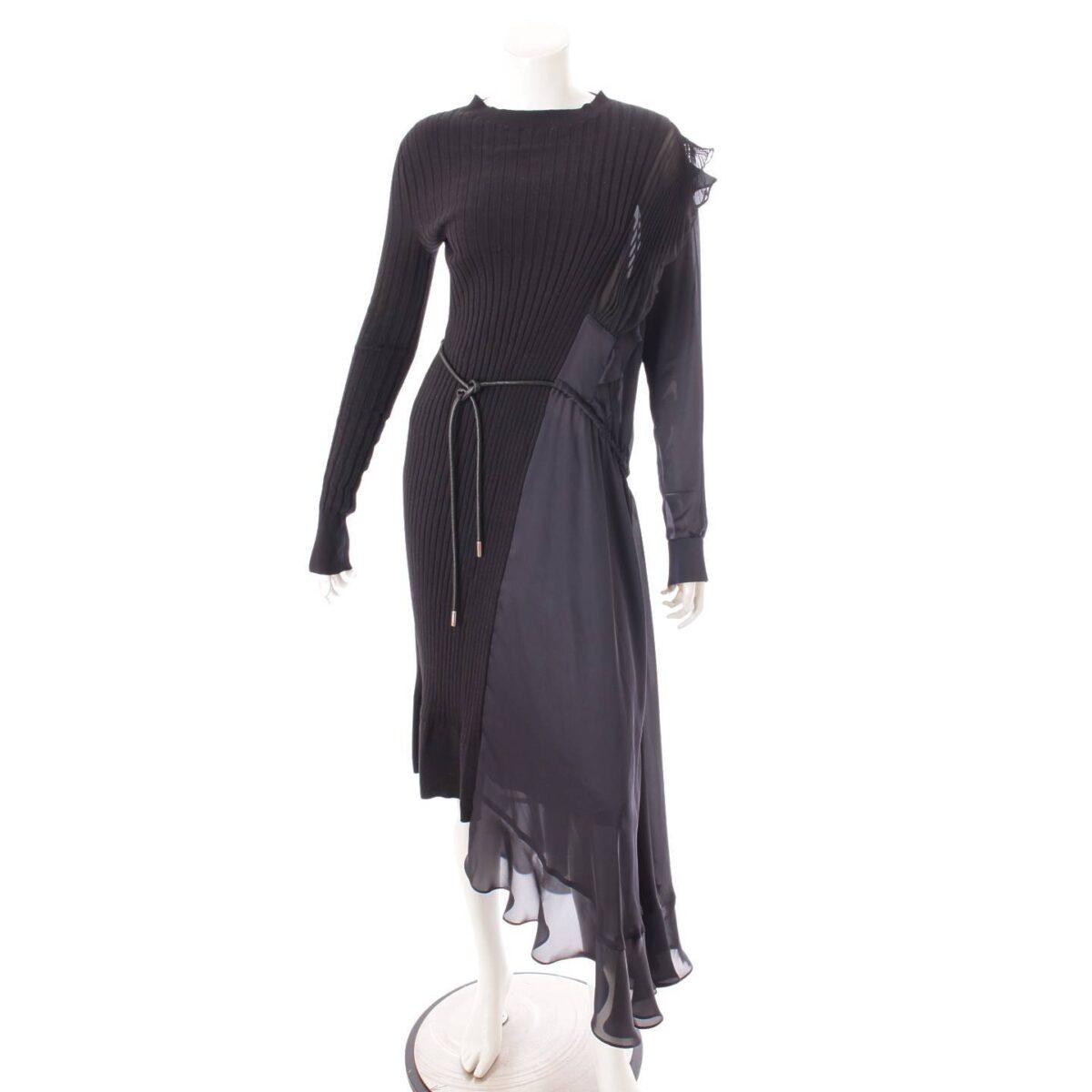 サカイ 20年 ロングドレス ワンピース 5056 ネイビー