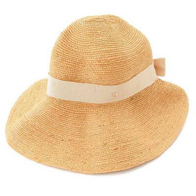 ヘレンカミンスキー ラフィア ハット 麦わら帽子