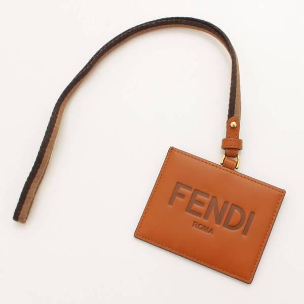 フェンディ 2021年 ロゴ入り ネック レザー カードホルダー カードケース