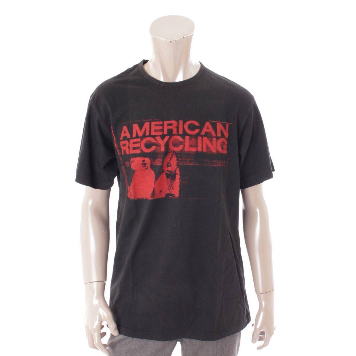 ラフシモンズ 02SS テロ期 AMERICAN RECYCLING Tシャツ トップス アーカイブ ブラック