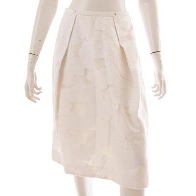ドゥロワー スカート ホワイト 花柄 36