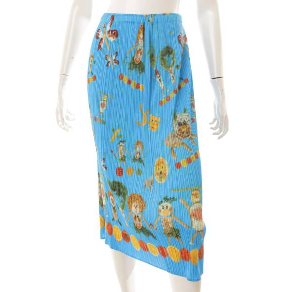 プリーツプリーズ 14SS 野菜メルヘンプリント スカート