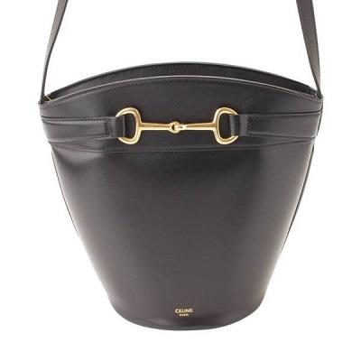 セリーヌ Crecy Bucket クレシーバケット カーフスキン ショルダーバッグ クロスボディ 192073BUT.38NO ブラック