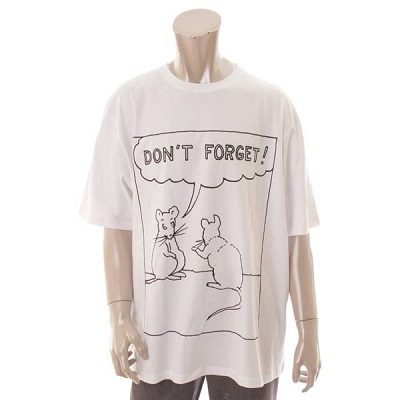 ロエベ Tシャツ ねずみプリント ホワイト