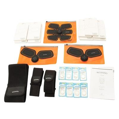 MTG シックスパッド 3点セット(アブズフィット×1、ボディフィット×2、ジェルシート・電池付属)