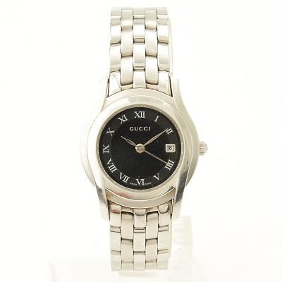 グッチ 5500L 腕時計 黒文字盤 ※電池切れ