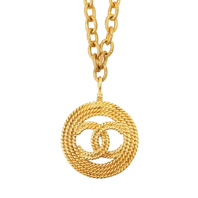 シャネル ネックレス 丸形 ココマーク ゴールド