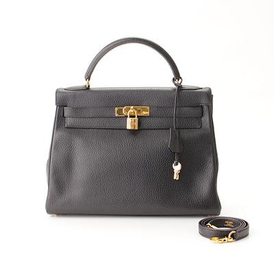 エルメス ケリー32 トゴ ブラック G金具 ◻︎C刻印 内縫い