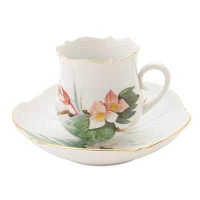 マイセン 水辺の花 コーヒーカップ&ソーサー