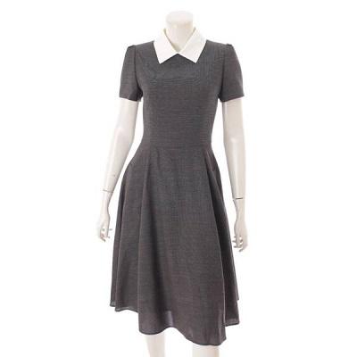 フォクシー Dress Belle flare 半袖 襟付き ワンピース 40195 リッチグレー 38