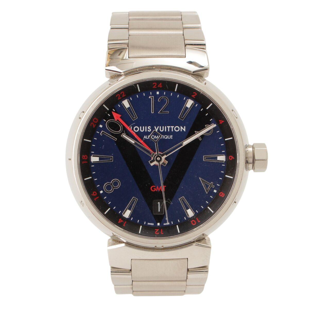 ルイヴィトン タンブール GMT デイト 腕時計 Q1157