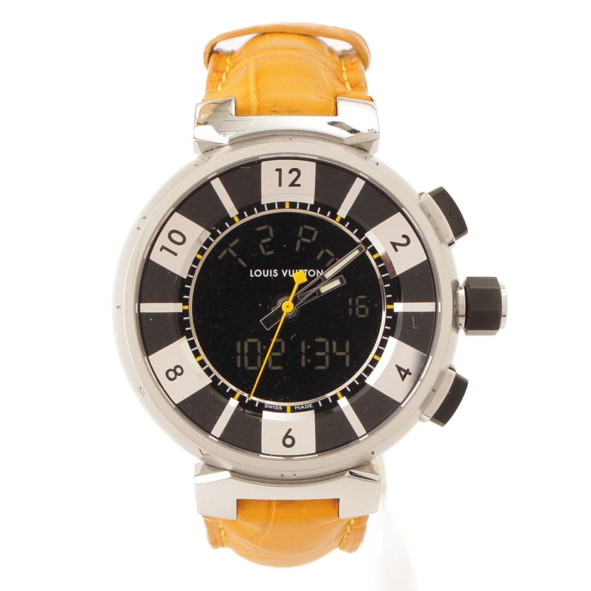 ルイヴィトン タンブール インブラック 腕時計 Q118F