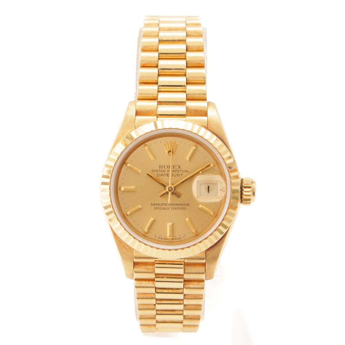 ロレックス 69178 デイトジャスト 金無垢 自動巻き時計
