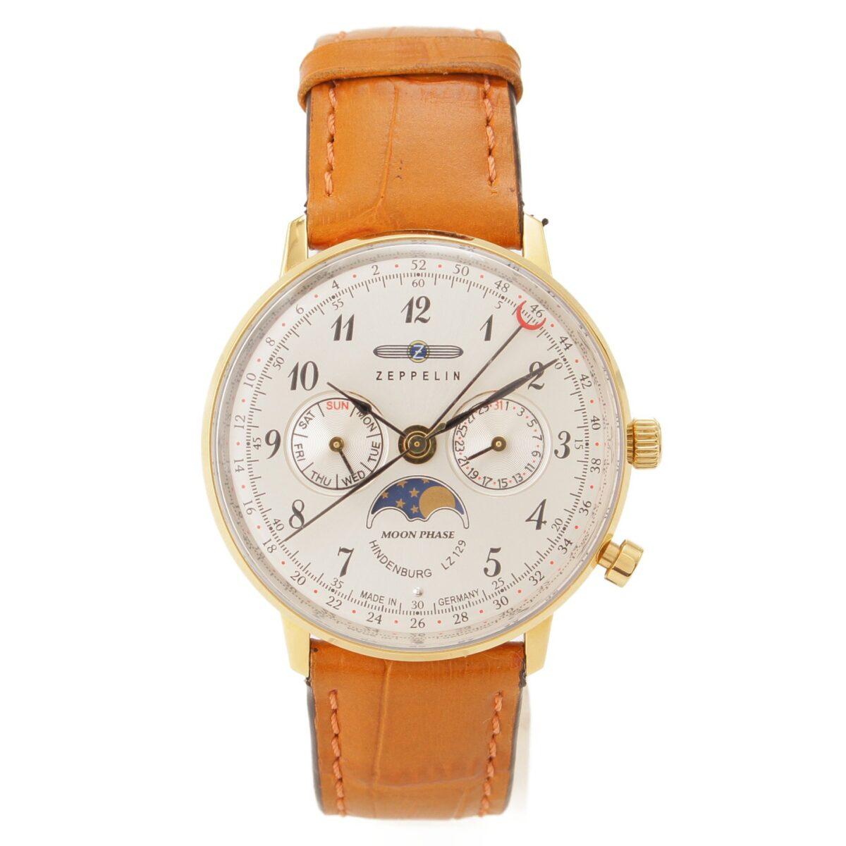 ツェッペリン HINDENBURG ヒンデンブルグ 腕時計 クォーツ 7039 ドイツ ムーンフェイズ ポインターデイト