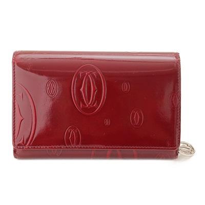 カルティエ 長財布 レッド