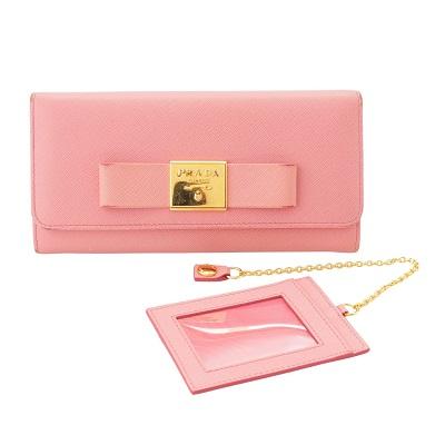 プラダ 長財布 ピンク