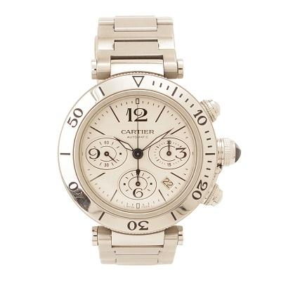 カルティエ パシャ シータイマー クロノグラフ 腕時計 W31089M7